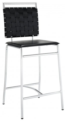 Fuse Black Counter Stool