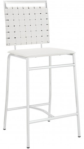 Fuse White Counter Stool