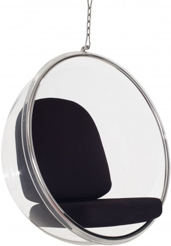 Ring Chair With Black Pillows