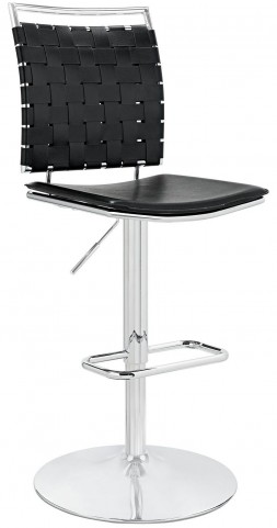 Fuse Black Adjustable Armless Bar Stool