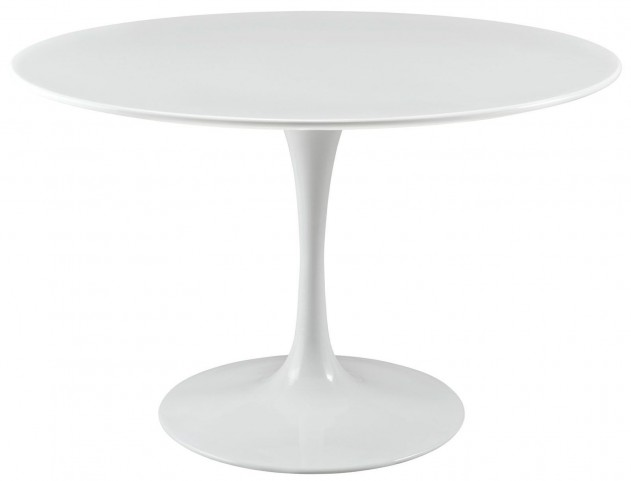 Lippa White 47 Inch Wood Top Dining Table