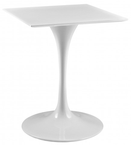 "Lippa White 24"" Wood Top Dining Table"