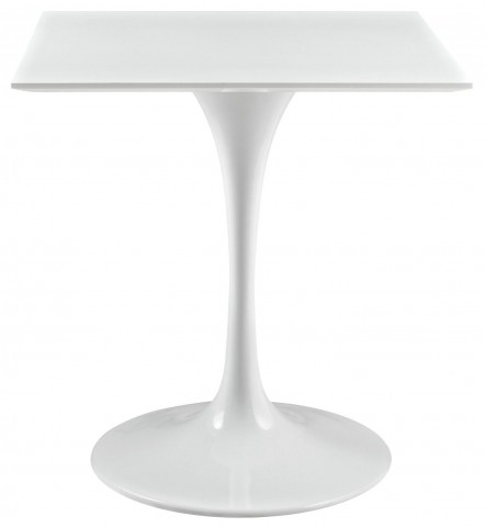 "Lippa White 28"" Wood Top Dining Table"
