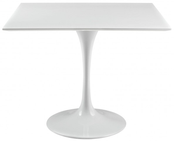 """Lippa White 36"""" Wood Top Dining Table"""