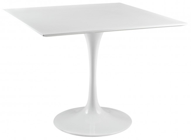 "Lippa White 36"" Wood Top Dining Table"