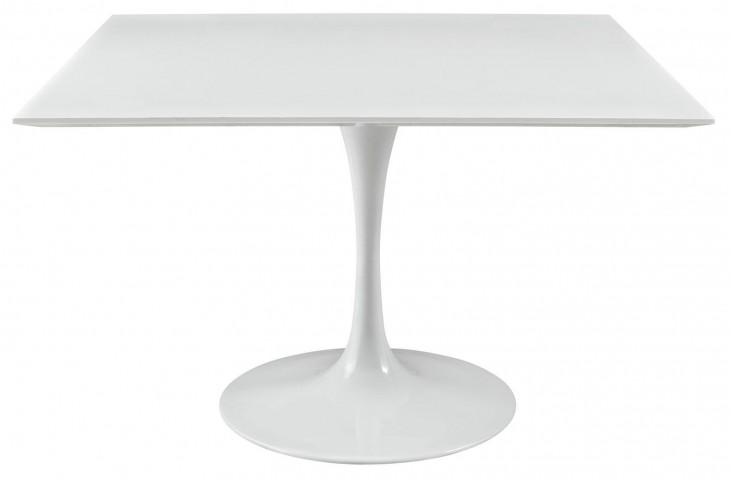 """Lippa White 47"""" Wood Top Dining Table"""