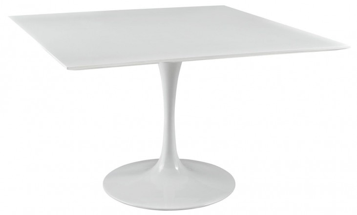"Lippa White 47"" Wood Top Dining Table"