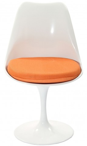 Lippa Side Chair with Orange Cushion