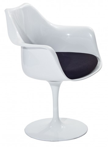 Lippa Arm Chair with Black Cushion