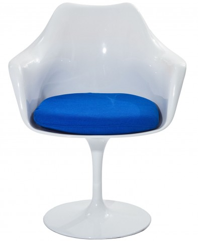 Lippa Arm Chair with Blue Cushion