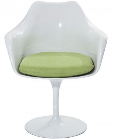 Lippa Arm Chair with Green Cushion