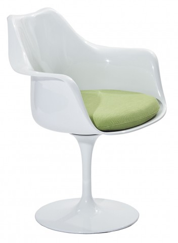Lippa Arm Chair with Green Cushion