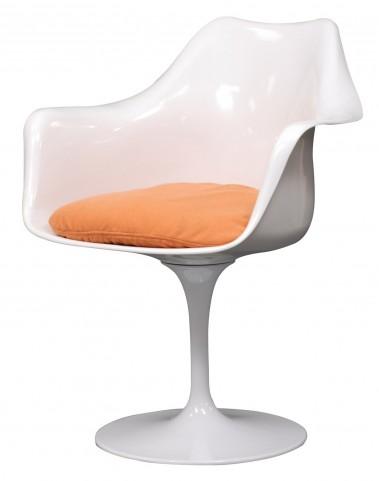 Lippa Arm Chair with Orange Cushion