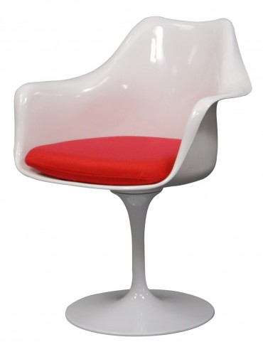 Lippa Arm Chair with Red Cushion