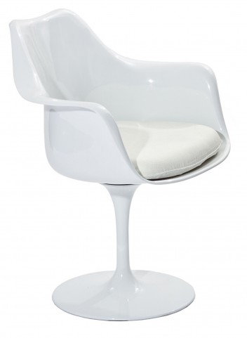 Lippa Arm Chair with White Cushion