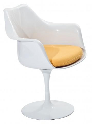 Lippa Arm Chair with Yellow Cushion