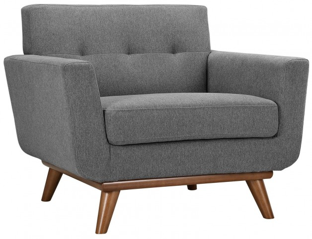 Engage Expectation Gray Upholstered Armchair