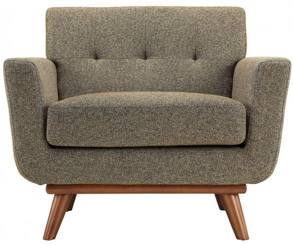 Engage Oatmeal Tweed Upholstered Armchair