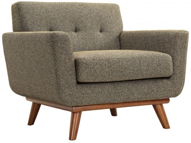 Engage Oatmeal Tweed Upholstered Armchair
