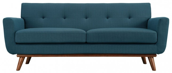 Engage Azure Upholstered Loveseat
