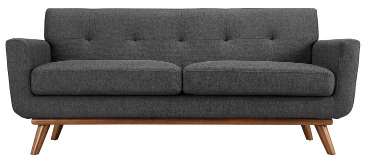Engage Gray Upholstered Loveseat