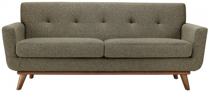 Engage Oatmeal Upholstered Loveseat