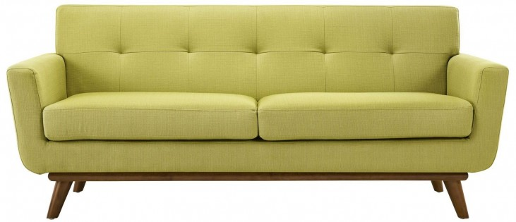 Engage Wheatgrass Upholstered Loveseat