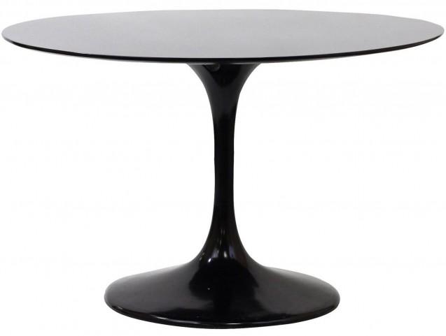 "Lippa Black 40"" Fiberglass Dining Table"