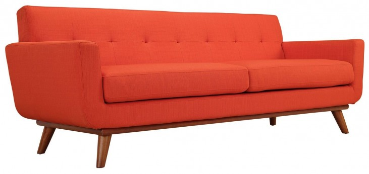 Engage Atomic Red Upholstered Sofa