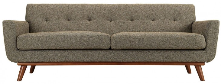 Engage Oatmeal Tweed Upholstered Sofa
