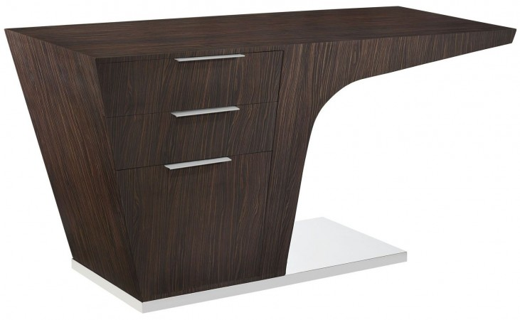 Warp Walnut Office Desk