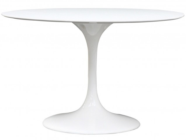 "48"" Lippa White Dining Table in Fiberglass"
