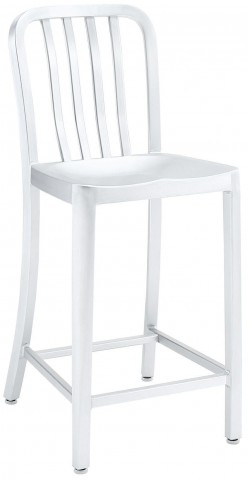 Deck Silver Counter Stool