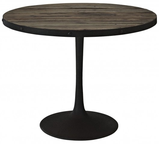 Drive Brown Wood Top Dining Table
