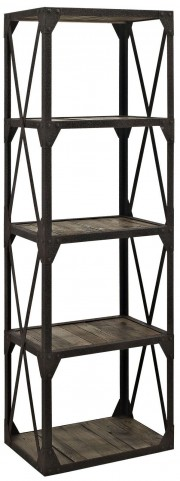 Brown Stave Stand Bookcase