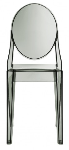 Casper Side Chair in Smoked Clear