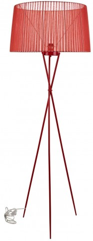Twigs Red Floor Lamp