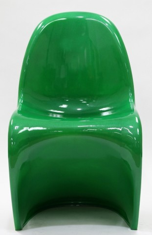Slither Chair in Glossy Green