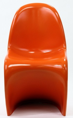 Slither Chair in Glossy in Orange