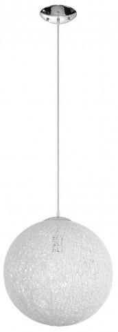 Spool White Modern Pendant Light