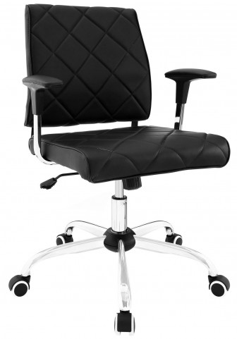 Lattice Black Vinyl Office Chair