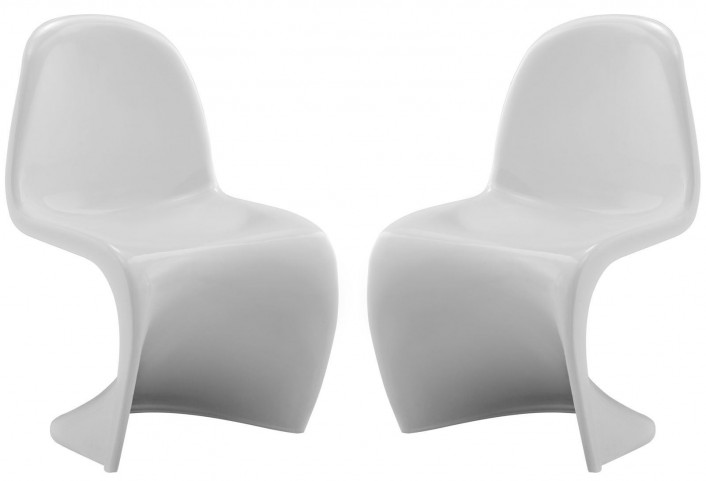 Slither White Kids Chair Set of 2