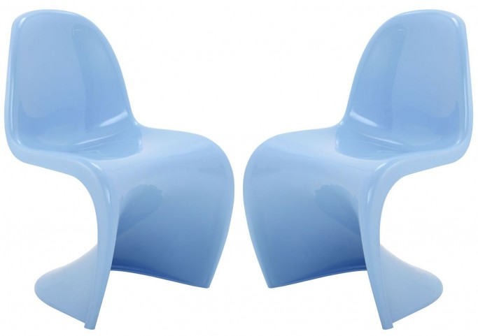 Slither Blue Dining Side Chair Set of 2