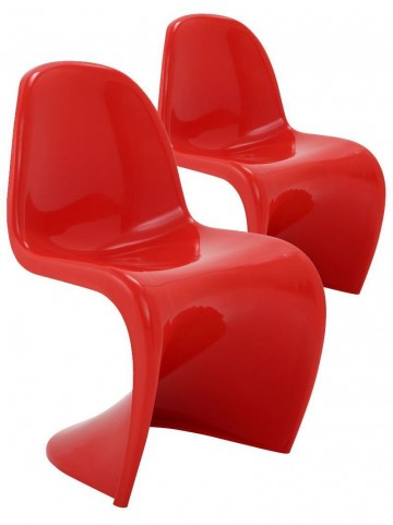 Slither Red Side Chair Set of 2