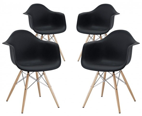 Pyramid Black Dining Armchair Set of 4