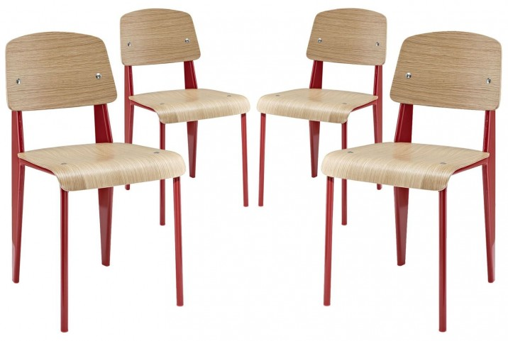 Cabin Red Dining Side Chair Set of 4
