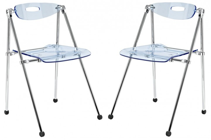 Telescope Light Blue Folding Chair Set of 2