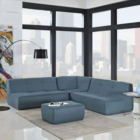 Align Sea 4 Piece Upholstered Sectional Sofa Set