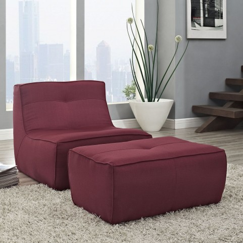 Align Berry 2 Piece Upholstered Armchair and Ottoman Set