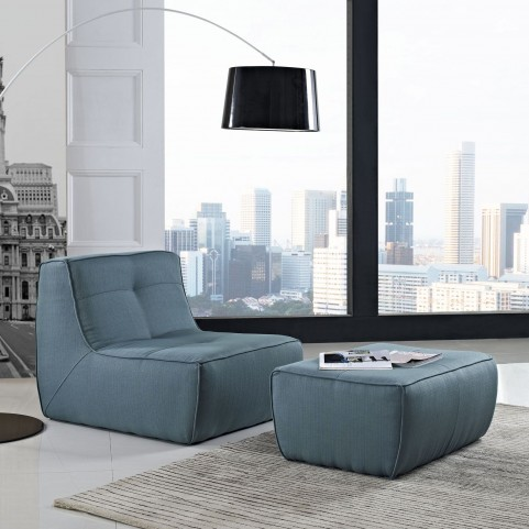 Align Sea 2 Piece Upholstered Armchair and Ottoman Set